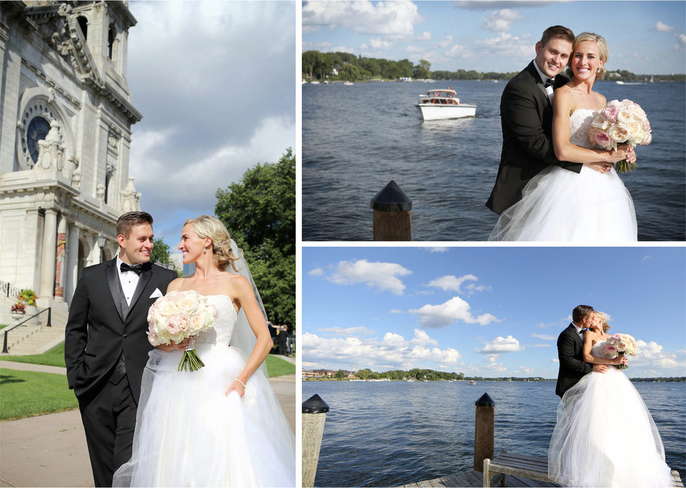 14-Minneapolis-Minnesota-Wedding-Photographer-by-Andrew-Vick-Photography-Summer-Basilica-of-Saint-Mary-Lake-Minnetonka-Beach-Bride-Groom-Excitement-Boat-Docks-Kiss-Emily-and-Jay.jpg