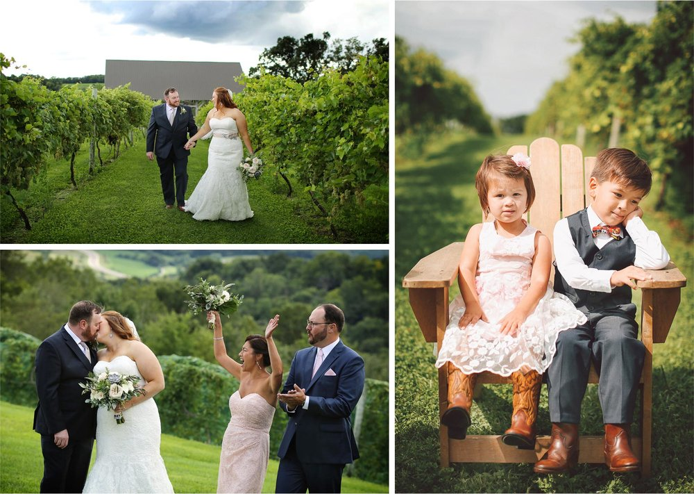 10-Cannon-Falls-Minnesota-Wedding-Photographer-by-Andrew-Vick-Photography-Summer-River-Winery-First-Meeting-Look-Bride-Groom-Bridal-Party-Kids-Flower-Girl-Ring-Bearer-Cowboy-Boots-Vineyard-Becca-and-Donal.jpg