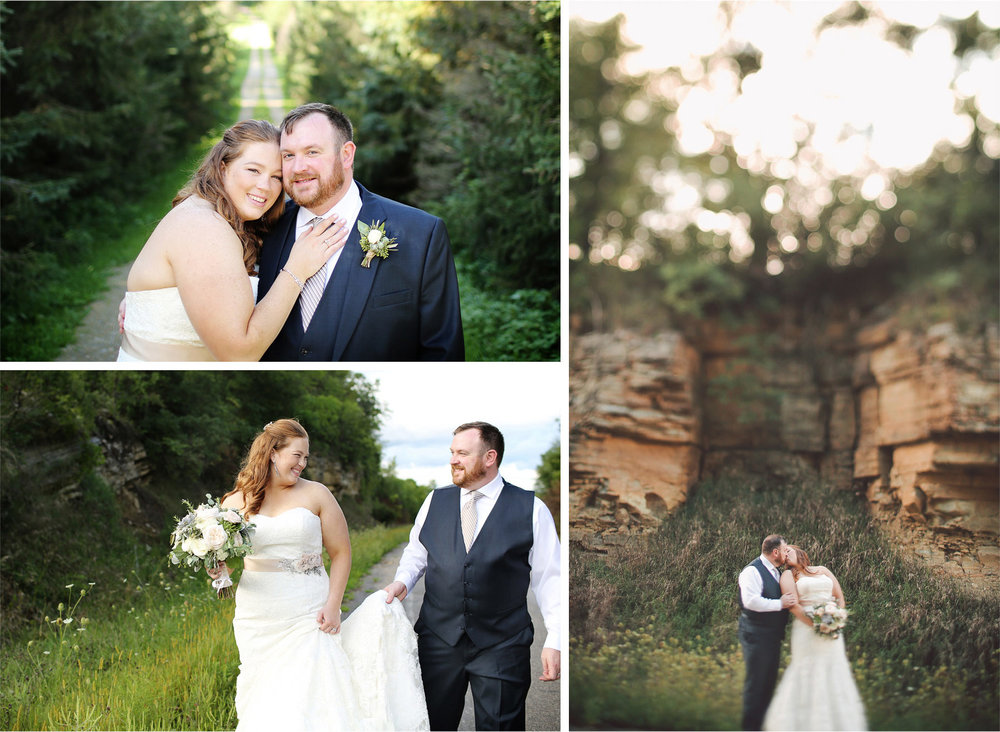 19-Cannon-Falls-Minnesota-Wedding-Photographer-by-Andrew-Vick-Photography-Summer-River-Winery-Bride-Groom-Kiss-Sand-Stone-Vintage-Becca-and-Donal.jpg