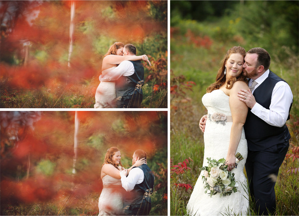 22-Cannon-Falls-Minnesota-Wedding-Photographer-by-Andrew-Vick-Photography-Summer-River-Winery-Bride-Groom-Embrace-Kiss-Woods-Vintage-Becca-and-Donal.jpg