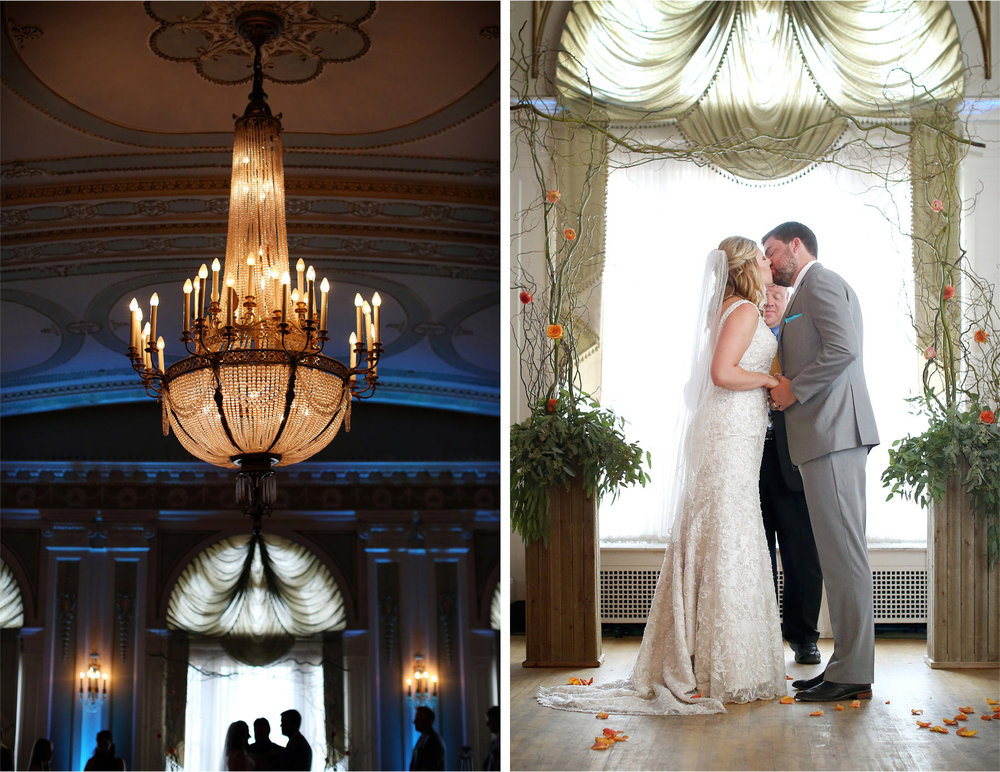 10-Duluth-Minnesota-Wedding-Photographer-by-Andrew-Vick-Photography-Summer-Greysolon-Ballroom-Bride-Groom-Ceremony-Kiss-Chandelier-Katie-and-Andrew.jpg