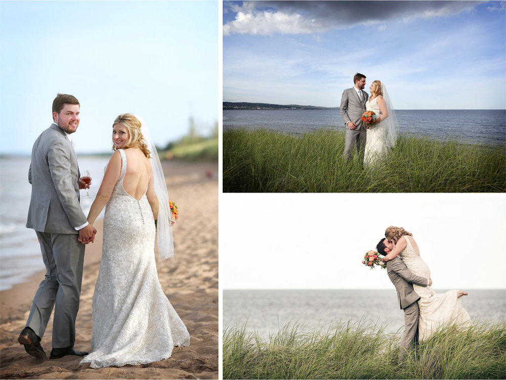 13-Duluth-Minnesota-Wedding-Photographer-by-Andrew-Vick-Photography-Summer-Bride-Groom-Lake-Superior-Grass-Lift-Kiss-Champagne-Beach-Vintage-Katie-and-Andrew.jpg