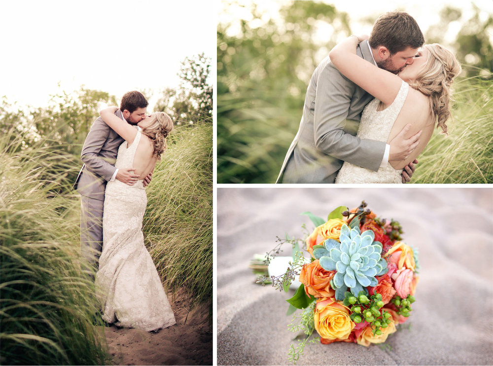 15-Duluth-Minnesota-Wedding-Photographer-by-Andrew-Vick-Photography-Summer-Bride-Groom-Grass-Kiss-Flowers-Beach-Vintage-Katie-and-Andrew.jpg