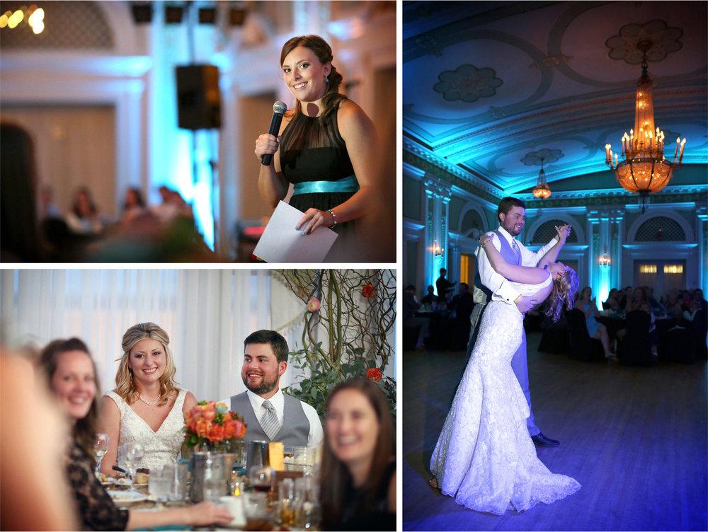 22-Duluth-Minnesota-Wedding-Photographer-by-Andrew-Vick-Photography-Summer-Greysolon-Ballroom-Reception-Bride-Groom-Speeches-Bridesmaid-Dance-Dip-Katie-and-Andrew.jpg