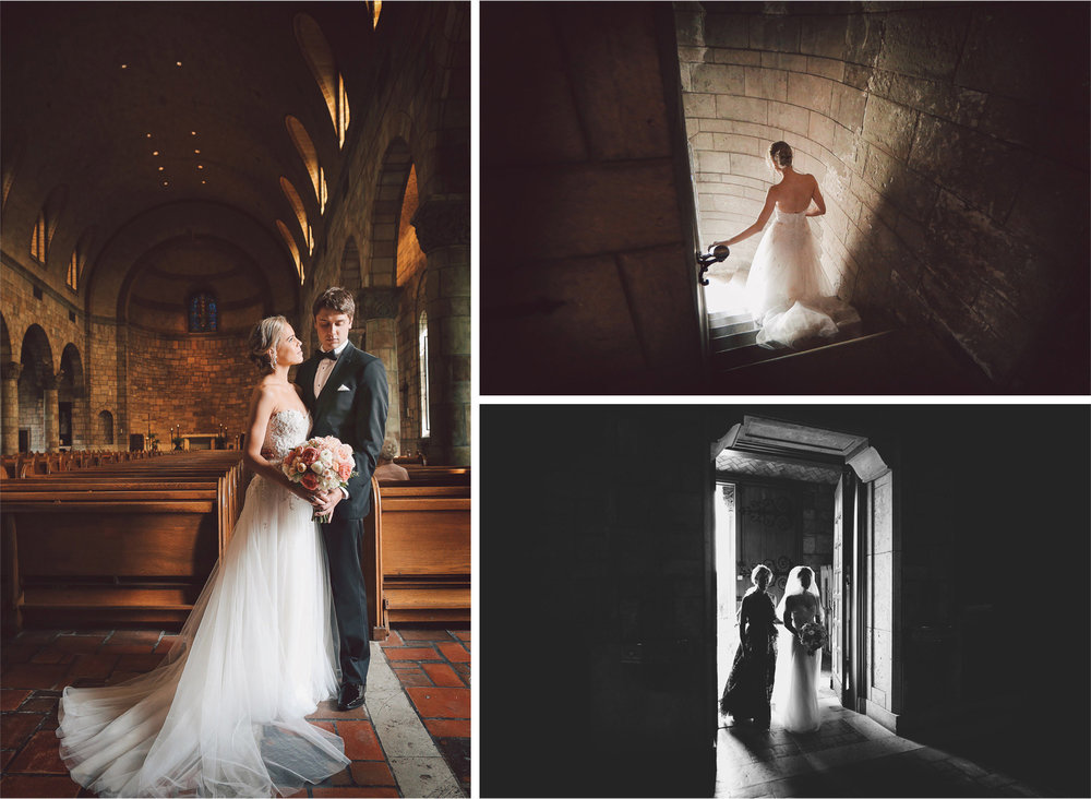 13-Saint-Paul-Minnesota-Wedding-Photographer-by-Andrew-Vick-Photography-Summer-Our-Lady-Of-Victory-Chapel-Church-Ceremony-Bride-Groom-Flowers-Embrace-Vintage-Staircase-Stairs-Pews-Mother-Parents-Black-and-White-Michelle-and-Kevin.jpg