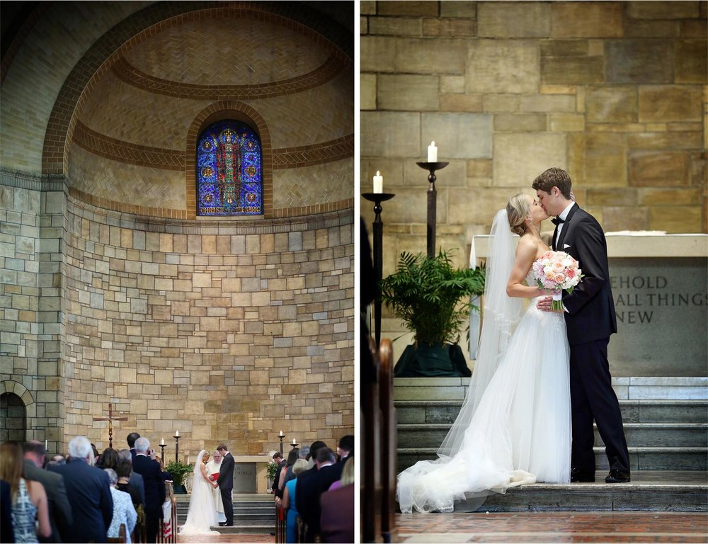 15-Saint-Paul-Minnesota-Wedding-Photographer-by-Andrew-Vick-Photography-Summer-Our-Lady-Of-Victory-Chapel-Church-Ceremony-Bride-Groom-Flowers-Vows-Kiss-Michelle-and-Kevin.jpg