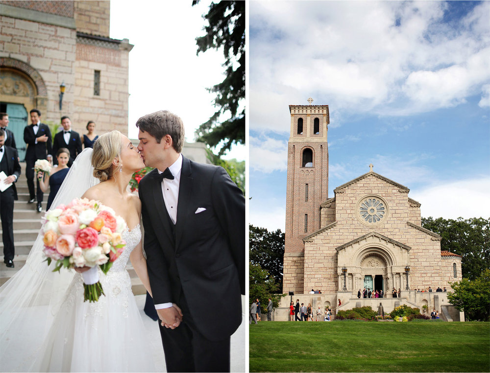 17-Saint-Paul-Minnesota-Wedding-Photographer-by-Andrew-Vick-Photography-Summer-Our-Lady-Of-Victory-Chapel-Church-Ceremony-Bride-Groom-Flowers-Kiss-Guests-Michelle-and-Kevin.jpg