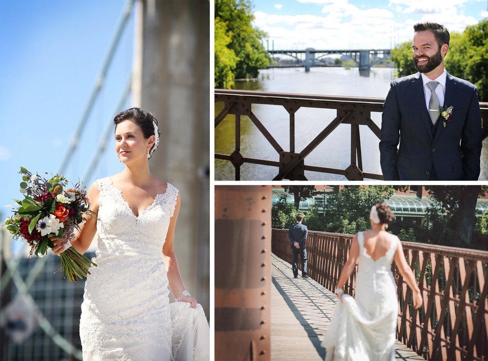 05-Minneapolis-Minnesota-Wedding-Photographer-by-Andrew-Vick-Photography-Summer-First-Meeting-Look-Bride-Groom-Merriam-Street-Bridge-Mississippi-River-Flowers-Vintage-Ashley-and-Eric.jpg