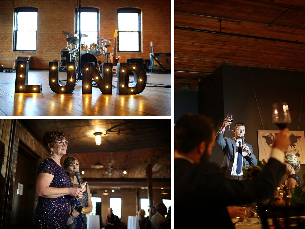 23-Minneapolis-Minnesota-Wedding-Photographer-by-Andrew-Vick-Photography-Summer-Solar-Arts-Reception-Name-Sign-Lights-Speeches-Mother-Parents-Groomsmen-Ashley-and-Eric.jpg