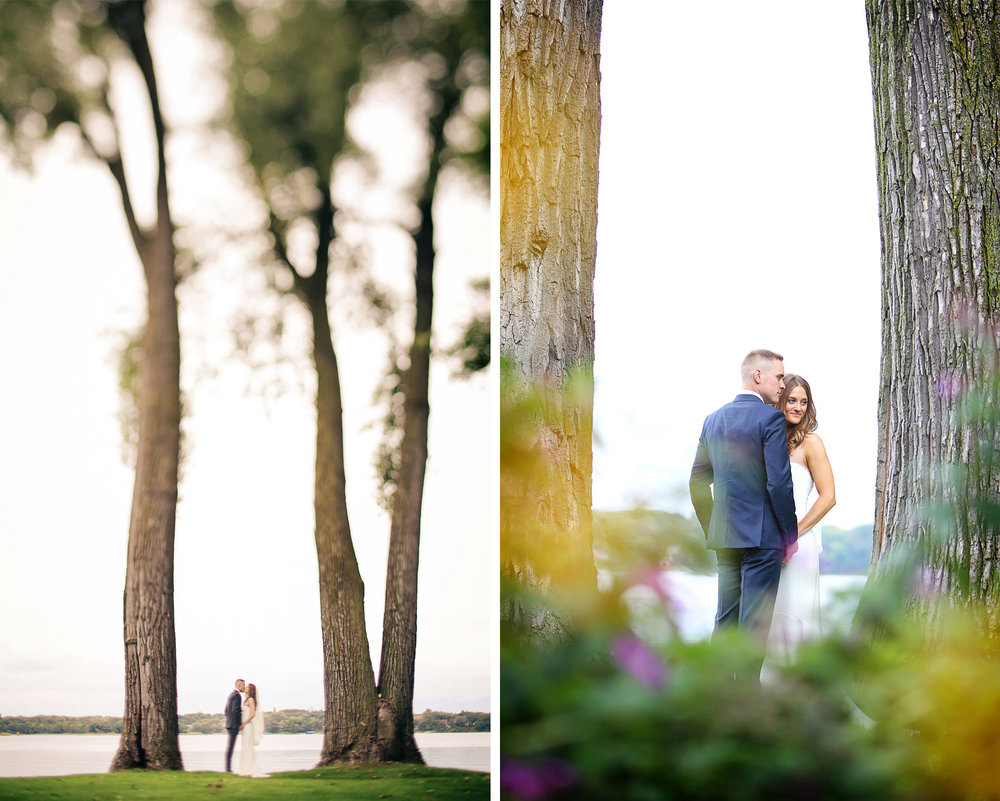 09-Dellwood-Minnesota-Wedding-Photographer-by-Andrew-Vick-Photography-Summer-Country-Club-First-Meeting-Look-Bride-Groom-Kiss-White-Bear-Lake-Tilt-Shift-Sarah-and-Landon.jpg