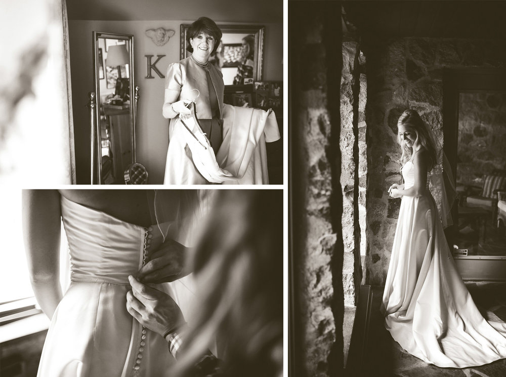 02-Minneapolis-Minnesota-Wedding-Photographer-by-Andrew-Vick-Photography-Fall-Autumn-Parents-House-Getting-Ready-Bride-Mother-Dress-Sepia-Krissy-and-James.jpg
