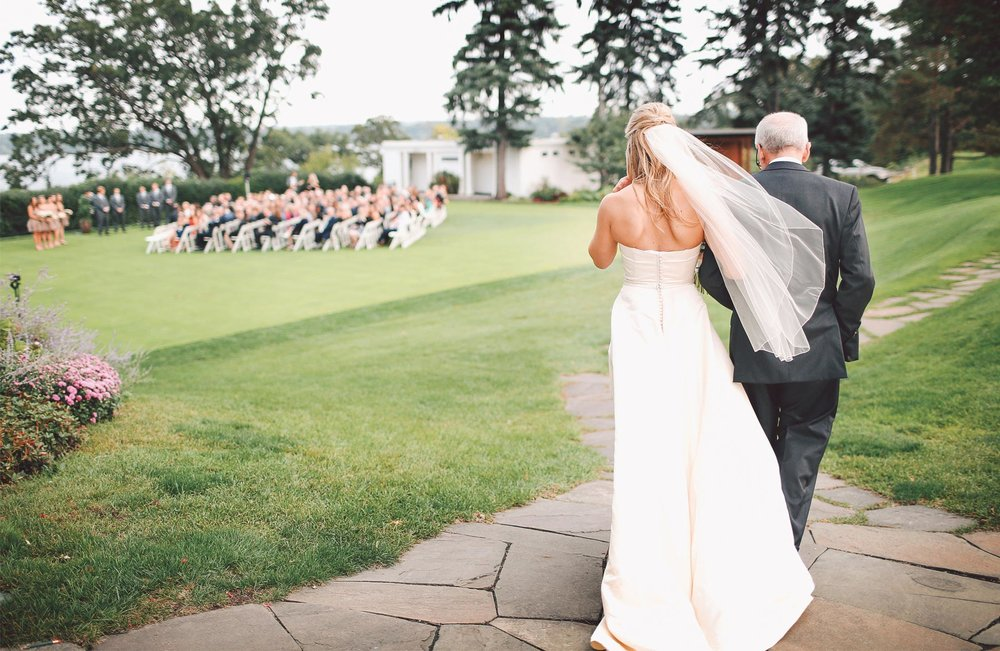 11-Minneapolis-Minnesota-Wedding-Photographer-by-Andrew-Vick-Photography-Fall-Autumn-Minikahda-Club-Ceremony-Bride-Father-Parents-Processional-Golf-Course-Vintage-Krissy-and-James.jpg