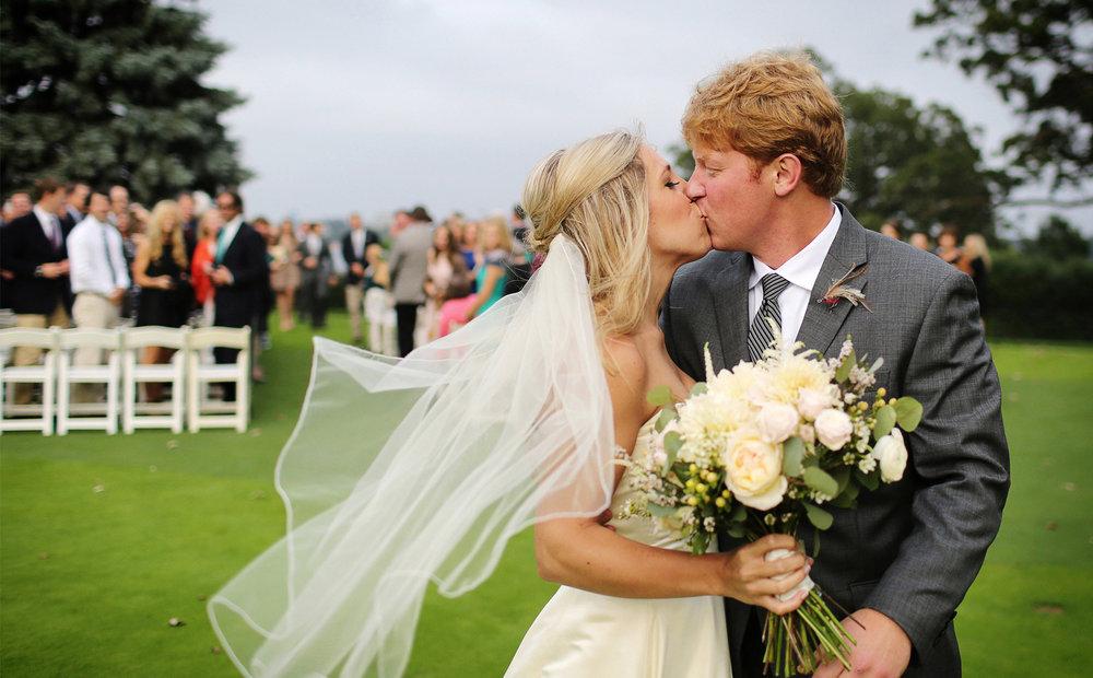 15-Minneapolis-Minnesota-Wedding-Photographer-by-Andrew-Vick-Photography-Fall-Autumn-Minikahda-Club-Ceremony-Bride-Groom-Kiss-Golf-Course-Krissy-and-James.jpg