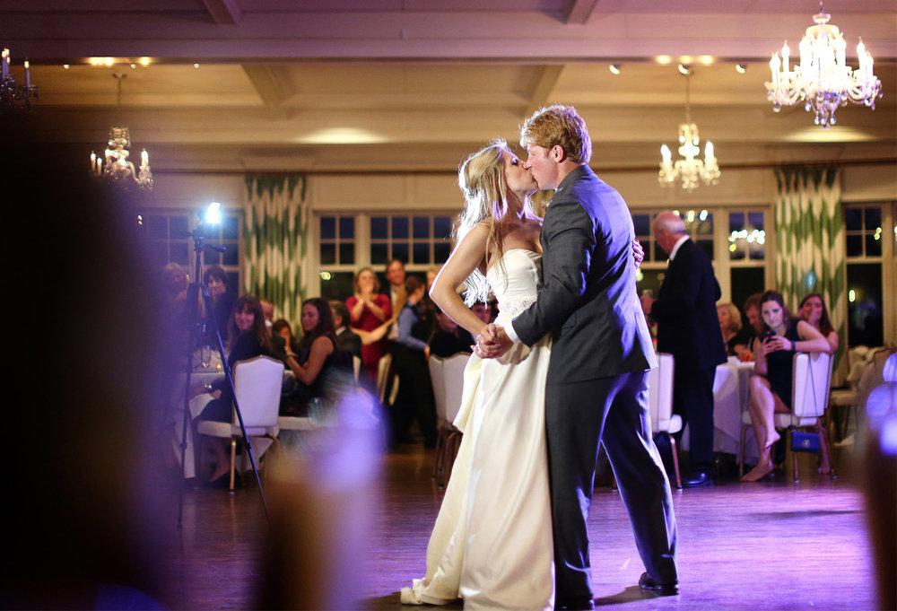21-Minneapolis-Minnesota-Wedding-Photographer-by-Andrew-Vick-Photography-Fall-Autumn-Minikahda-Club-Reception-Bride-Groom-Dance-Kiss-Krissy-and-James.jpg