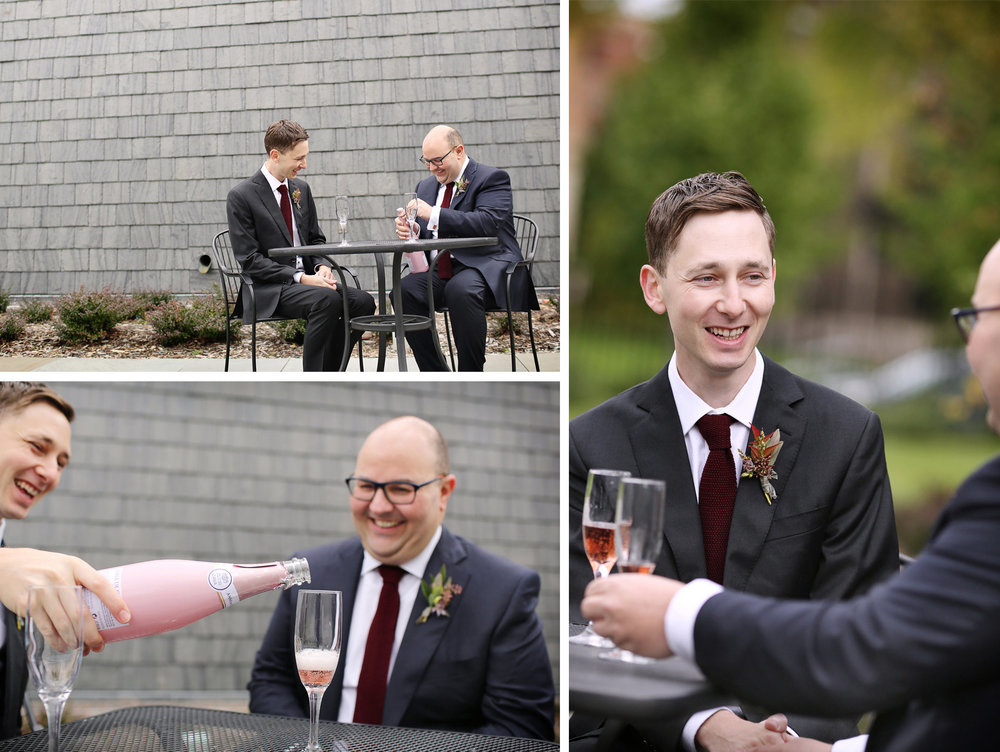 04-Minneapolis-Minnesota-Wedding-Photographer-by-Andrew-Vick-Photography-Fall-Autumn-American-Swedish-Institute-First-Meeting-Look-Groom-Pink-Champagne-Ben-and-Adam.jpg