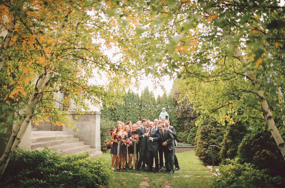 10-Minneapolis-Minnesota-Wedding-Photographer-by-Andrew-Vick-Photography-Fall-Autumn-American-Swedish-Institute-Groom-Bridesmaids-Groomsmen-Champagne-Vintage-Ben-and-Adam.jpg