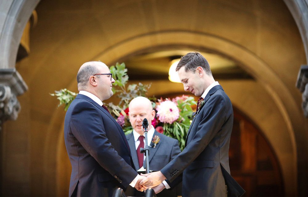 13-Minneapolis-Minnesota-Wedding-Photographer-by-Andrew-Vick-Photography-Fall-Autumn-American-Swedish-Institute-Ceremony-Groom-Vows-Ben-and-Adam.jpg