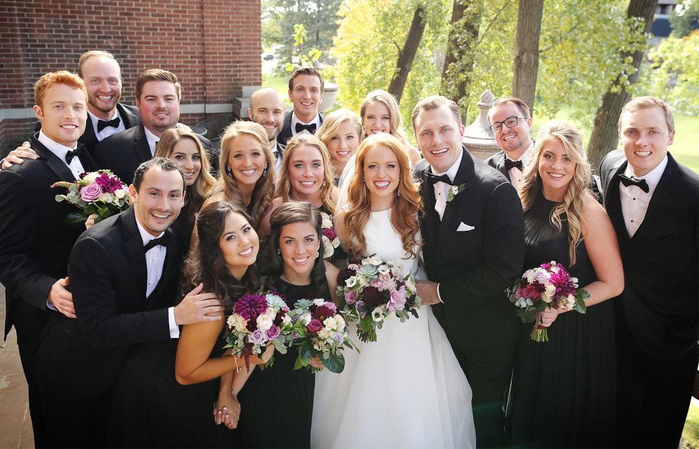 11-Minneapolis-Minnesota-Wedding-Photographer-by-Andrew-Vick-Photography-Fall-Autumn-Calhoun-Beach-Club-First-Look-Meeting-Bride-Groom-Bridesmaids-Groomsmen-Bridal-Party-Kristy-and-Jack.jpg