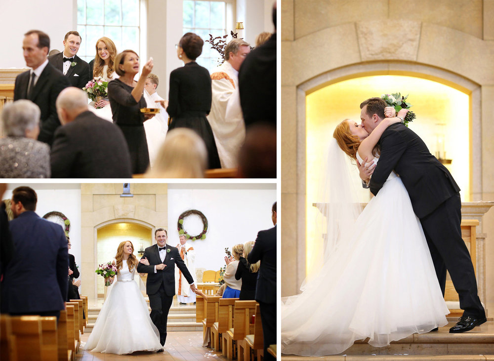 15-Minneapolis-Minnesota-Wedding-Photographer-by-Andrew-Vick-Photography-Fall-Autumn-Our-Lady-of-Grace-Catholic-Church-Ceremony-Bride-Groom-Communion-Kiss-Recessional-Kristy-and-Jack.jpg