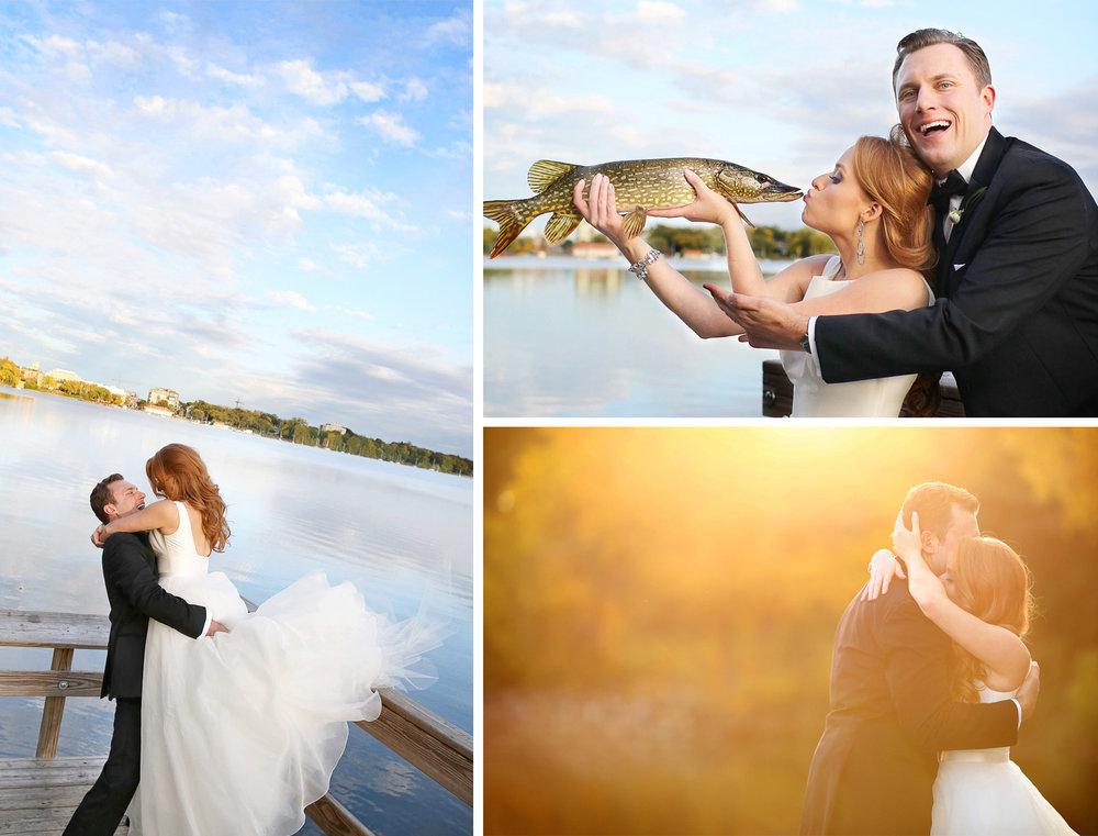 20-Minneapolis-Minnesota-Wedding-Photographer-by-Andrew-Vick-Photography-Fall-Autumn-Lake-Calhoun-Bride-Groom-Dock-Fish-Northern-Pike-Kiss-Sunflare-Hug-Embrace-Kristy-and-Jack.jpg