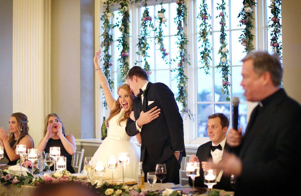 28-Minneapolis-Minnesota-Wedding-Photographer-by-Andrew-Vick-Photography-Fall-Autumn-Calhoun-Beach-Club-Reception-Bride-Groom-Speeches-Excitement-Kristy-and-Jack.jpg