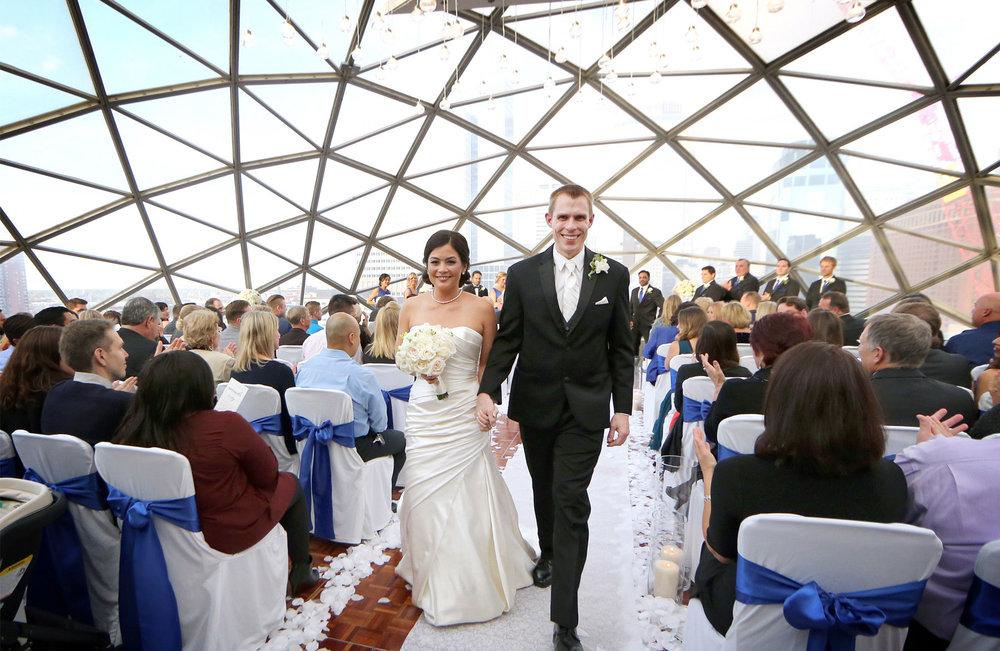 16-Minneapolis-Minnesota-Wedding-Photographer-by-Andrew-Vick-Photography-Fall-Autumn-Millennium-Hotel-Bride-Groom-Recessional-Amanda-and-Cary.jpg