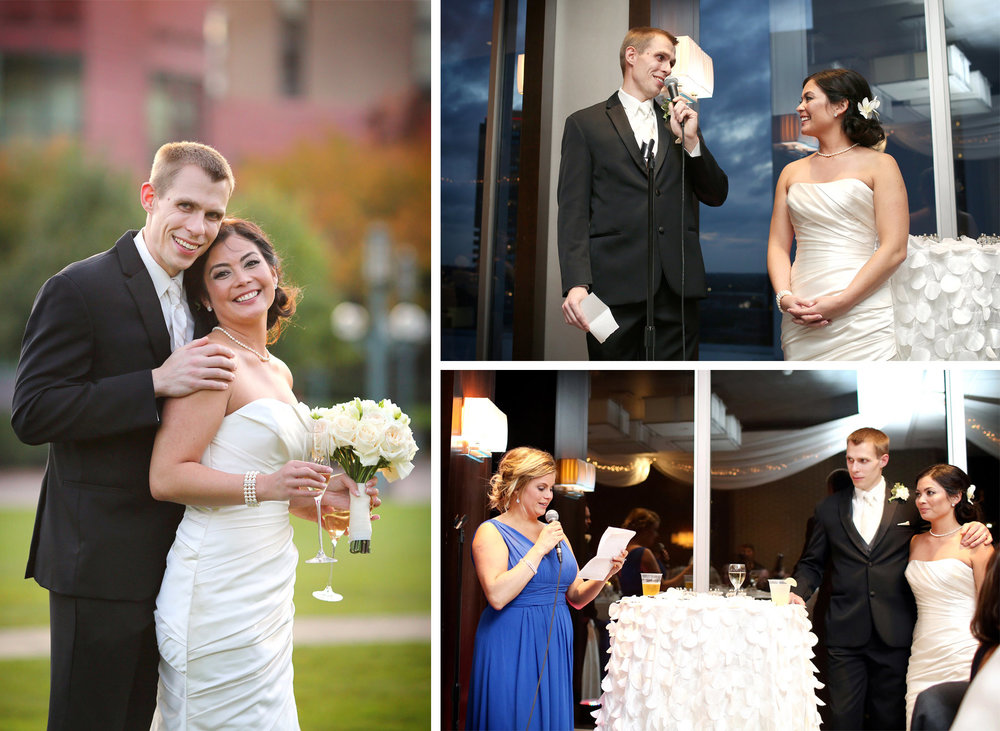 22-Minneapolis-Minnesota-Wedding-Photographer-by-Andrew-Vick-Photography-Fall-Autumn-Convention-Center-Bride-Groom-Champagne-Millennium-Hotel-Reception-Speeches-Bridesmaid-Amanda-and-Cary.jpg