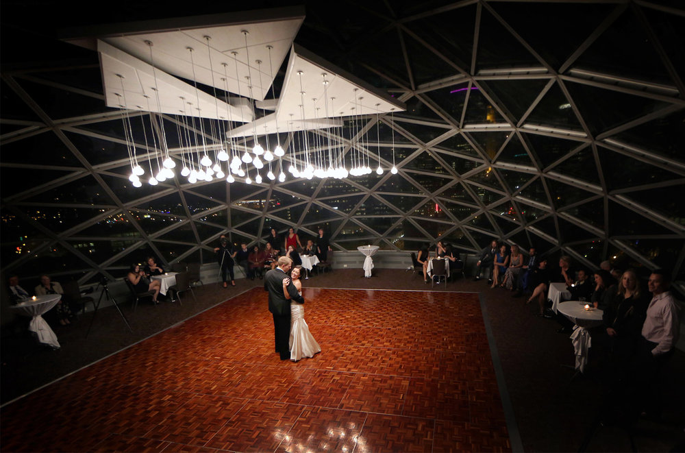 23-Minneapolis-Minnesota-Wedding-Photographer-by-Andrew-Vick-Photography-Fall-Autumn-Millennium-Hotel-Reception-Bride-Groom-Dance-Night-Skyline-Amanda-and-Cary.jpg