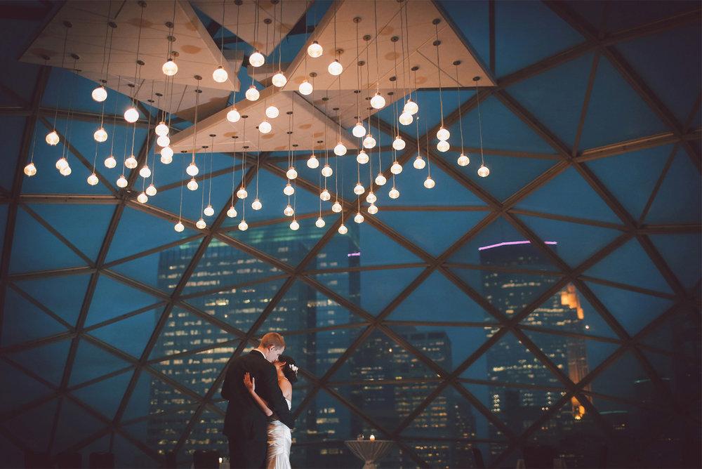 24-Minneapolis-Minnesota-Wedding-Photographer-by-Andrew-Vick-Photography-Fall-Autumn-Millennium-Hotel-Reception-Bride-Groom-Dance-Night-Skyline-Vintage-Amanda-and-Cary.jpg