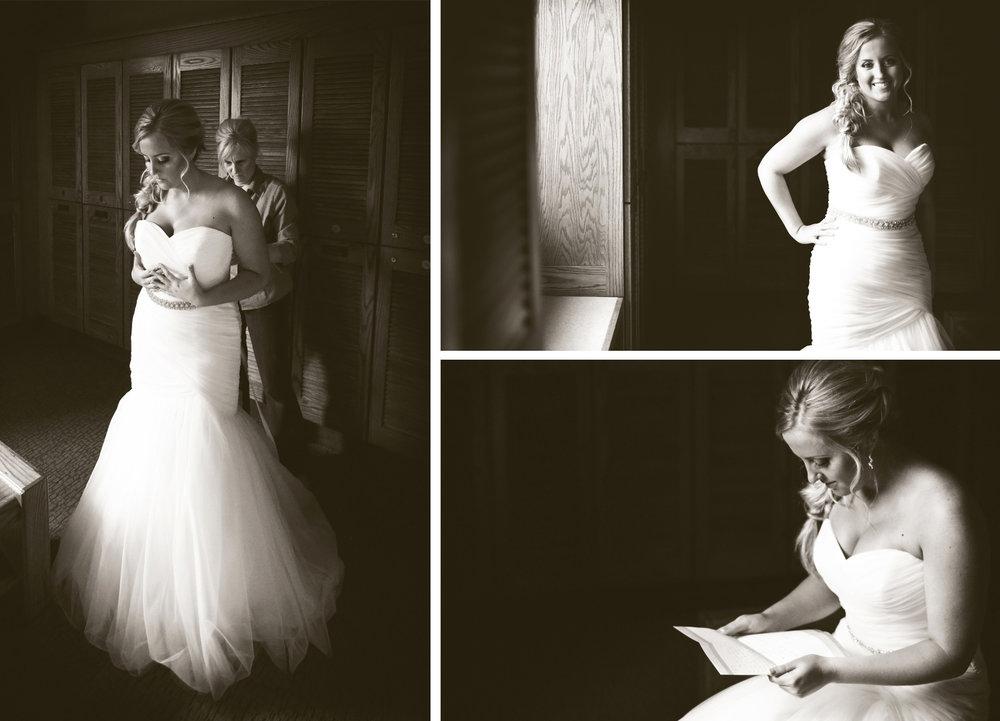 02-Stillwater-Minnesota-Wedding-Photographer-by-Andrew-Vick-Photography-Fall-Autumn-StoneRidge-Golf-Club-Getting-Ready-Bride-Mother-Parents-Dress-Letter-Note-Sepia-Micaela-and-Derek.jpg