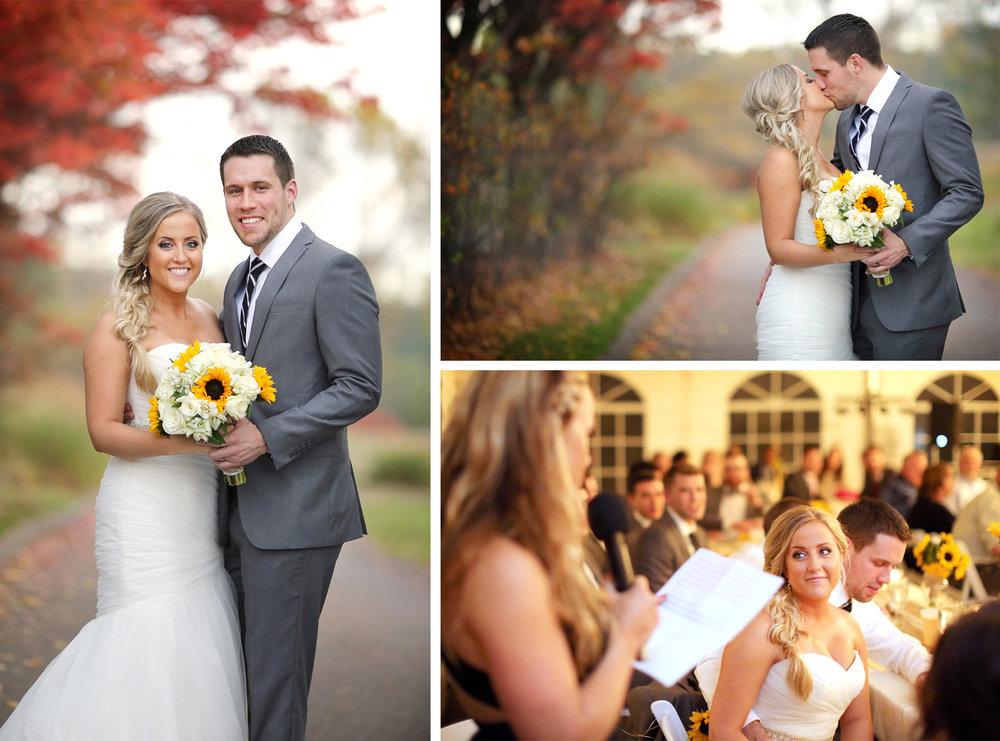 20-Stillwater-Minnesota-Wedding-Photographer-by-Andrew-Vick-Photography-Fall-Autumn-StoneRidge-Golf-Club-Bride-Groom-Bridesmaids-Kiss-Speeches-Micaela-and-Derek.jpg