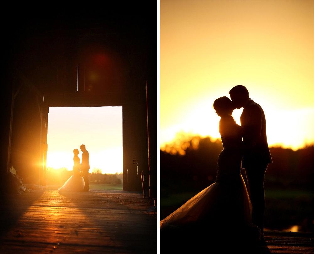 22-Stillwater-Minnesota-Wedding-Photographer-by-Andrew-Vick-Photography-Fall-Autumn-StoneRidge-Golf-Club-Bride-Groom-Kiss-Silhouette-Sunset-Sunflare-Barn-Micaela-and-Derek.jpg