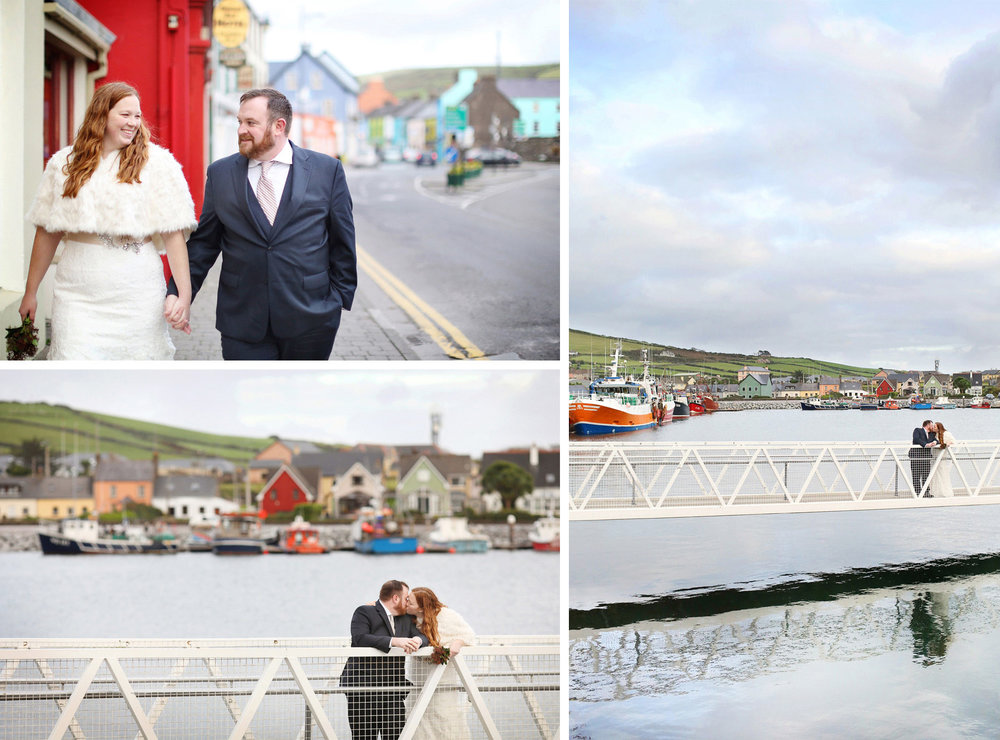 11-Kilarney-Ireland-Wedding-Photographer-by-Andrew-Vick-Photography-Fall-Autumn-Destination-Bride-Groom-Village-Embrace-Kiss-Bridge-Holding-Hands-Becca-and-Donal.jpg