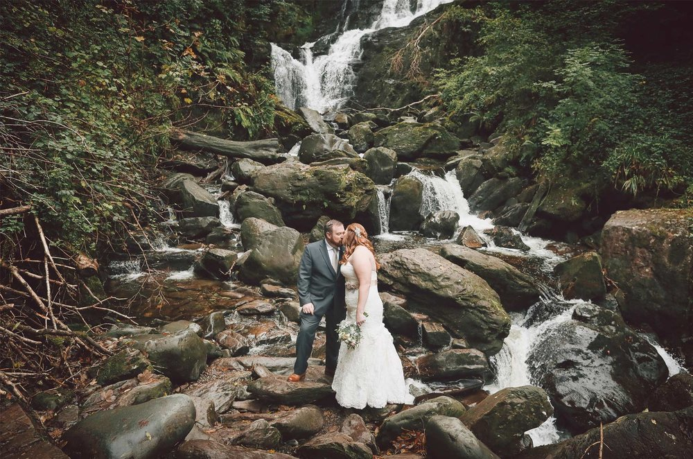 26-Kilarney-Ireland-Wedding-Photographer-by-Andrew-Vick-Photography-Fall-Autumn-Destination-First-Meeting-Look-Bride-Groom-Waterfall-Kiss-Vintage-Becca-and-Donal.jpg