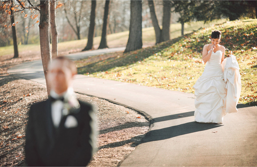 03-Eden-Prairie-Minnesota-Wedding-Photographer-by-Andrew-Vick-Photography-Fall-Autumn-Bearpath-Golf-Country-Club-First-Meeting-Look-Bride-Groom-Vintage-Brittany-and-Ryan.jpg