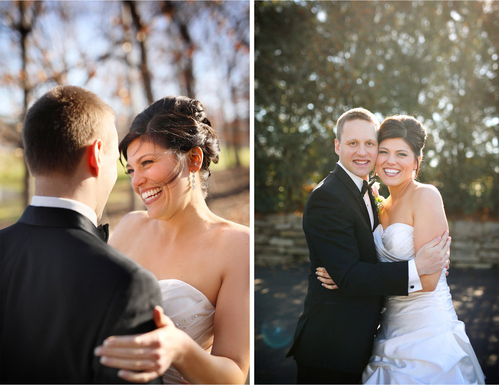 07-Eden-Prairie-Minnesota-Wedding-Photographer-by-Andrew-Vick-Photography-Fall-Autumn-Bearpath-Golf-Country-Club-First-Meeting-Look-Bride-Groom-Embrace-Hug-Brittany-and-Ryan.jpg