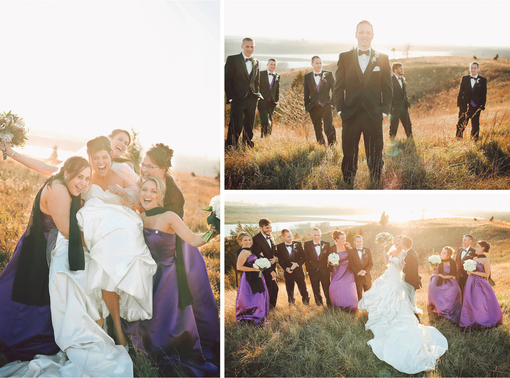 15-Eden-Prairie-Minnesota-Wedding-Photographer-by-Andrew-Vick-Photography-Fall-Autumn-Bearpath-Golf-Country-Club-Bride-Groom-Bridal-Party-Bridesmaids-Groomsmen-Kiss-Field-Vintage-Brittany-and-Ryan.jpg
