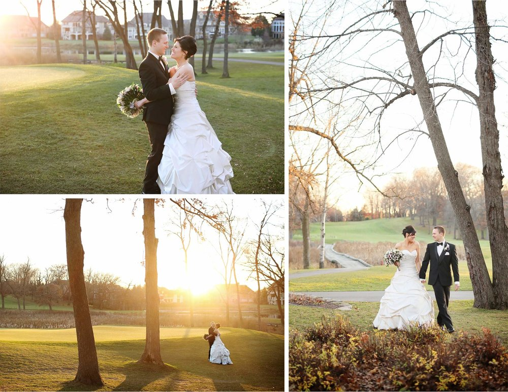 21-Eden-Prairie-Minnesota-Wedding-Photographer-by-Andrew-Vick-Photography-Fall-Autumn-Bearpath-Golf-Country-Club-Bride-Groom-Course-Embrace-Holding-Hands-Sunset-Brittany-and-Ryan.jpg