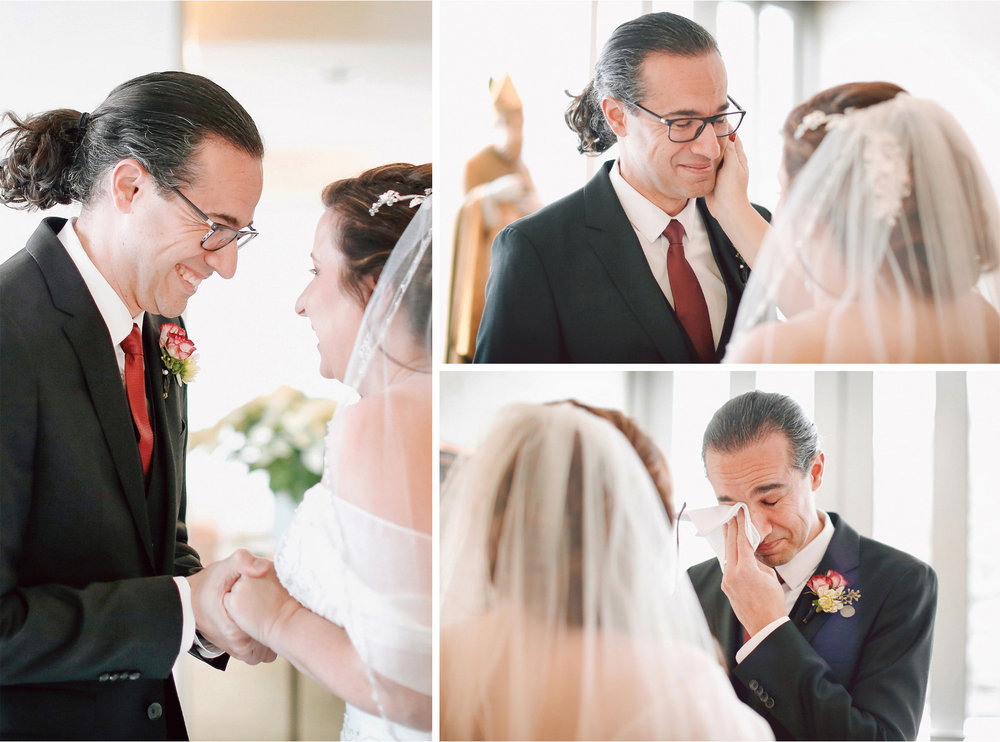 05-Edina-Minnesota-Wedding-Photographer-by-Andrew-Vick-Photography-Winter-Saint-Patricks-Catholic-Church-First-Meeting-Look-Bride-Groom-Tears-Handkerchief-Vintage-Elizabeth-and-Brian.jpg