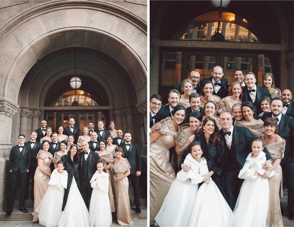 11-Saint-Paul-Minnesota-Wedding-Photographer-by-Andrew-Vick-Photography-Winter-New-Years-Eve-Landmark-Center-Bride-Groom-Bridal-Party-Bridesmaids-Groomsmen-Fur-Coat-Shrug-Vintage-Emily-and-Michael.jpg
