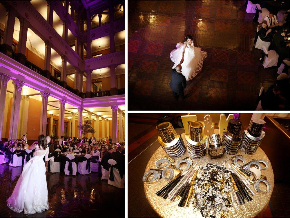 22-Saint-Paul-Minnesota-Wedding-Photographer-by-Andrew-Vick-Photography-Winter-New-Years-Eve-Landmark-Center-Reception-Bride-Groom-Dance-Props-Emily-and-Michael.jpg