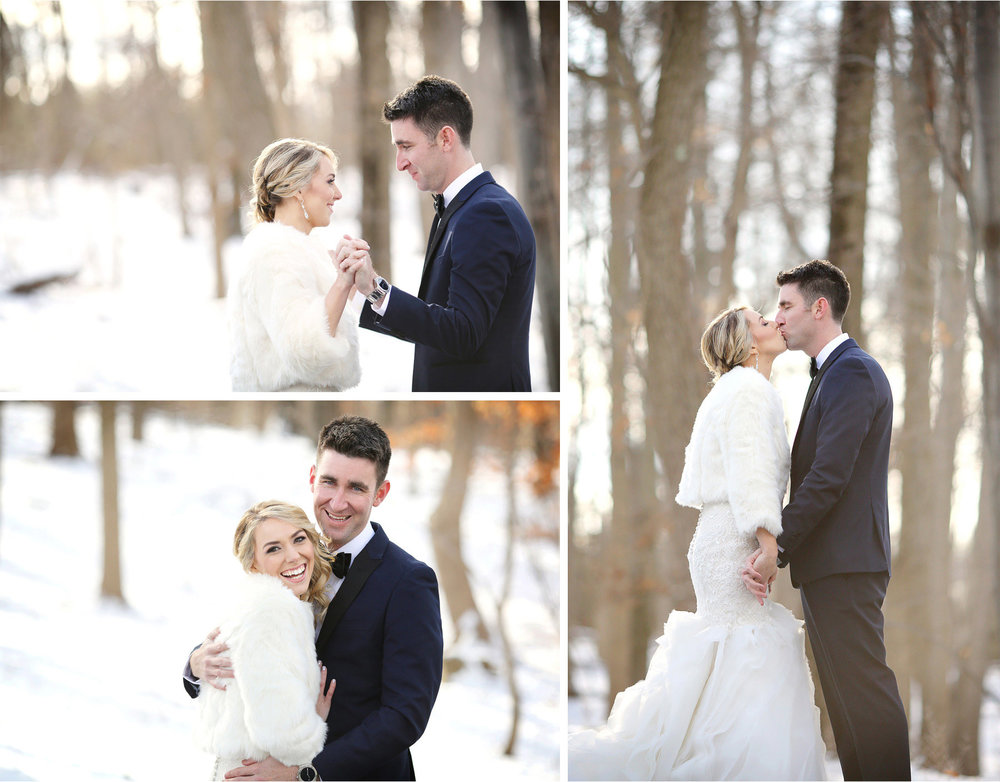06-Watchung-New-Jersey-Wedding-Photographer-by-Andrew-Vick-Photography-Winter-Saint-Marys-Chuch-Stony-Hill-First-Meeting-Look-Bride-Groom-Fur-Coat-Kiss-Embrace-Hug-Alexia-and-Justin.jpg