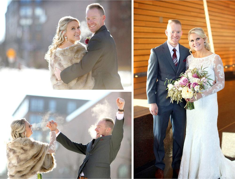 08-Minneapolis-Minnesota-Wedding-Photographer-by-Andrew-Vick-Photography-Winter-McNamara-Alumni-Center-First-Meeting-Look-Bride-Groom-Flowers-Excitement-Embrace-Fur-Shrug-Brittany-and-Joseph.jpg