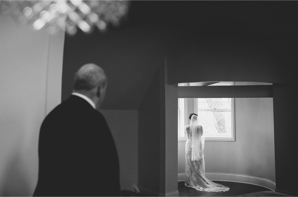03-Chicago-Illinois-Wedding-Photographer-by-Andrew-Vick-Photography-Winter-Stan-Mansion-Getting-Ready-Bride-Father-Parents-Reveal-Black-and-White-Colleen-and-Mike.jpg