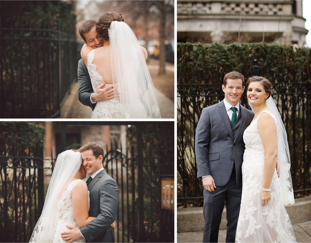 07-Chicago-Illinois-Wedding-Photographer-by-Andrew-Vick-Photography-Winter-Stan-Mansion-First-Meeting-Look-Bride-Groom-Hugs-Embrace-Laughter-Vintage-Colleen-and-Mike.jpg