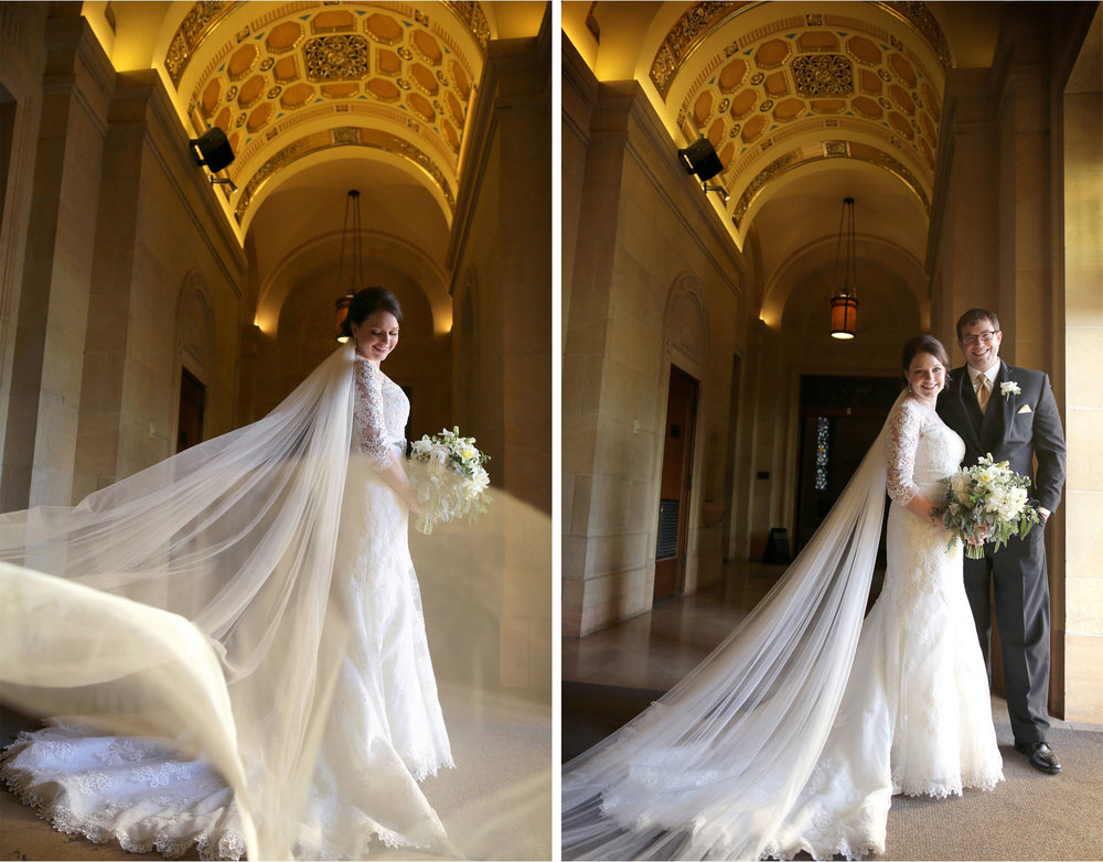 12-Minneapolis-Minnesota-Wedding-Photographer-by-Andrew-Vick-Photography-Winter-Basilica-of-Saint-Mary-Church-Bride-Groom-Veil-Flowers-Sara-and-Rob.jpg