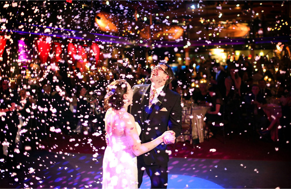 20-Minneapolis-Minnesota-Wedding-Photographer-by-Andrew-Vick-Photography-Winter-Varsity-Theater-Reception-Bride-Groom-Dance-Snow-Confetti-Sara-and-Rob.jpg
