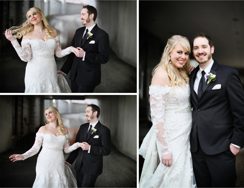 06-Minneapolis-Minnesota-Wedding-Photographer-by-Andrew-Vick-Photography-Winter-Millennium-Hotel-First-Meeting-Look-Bride-Groom-Hair-Flip-Jennifer-and-Phillip.jpg