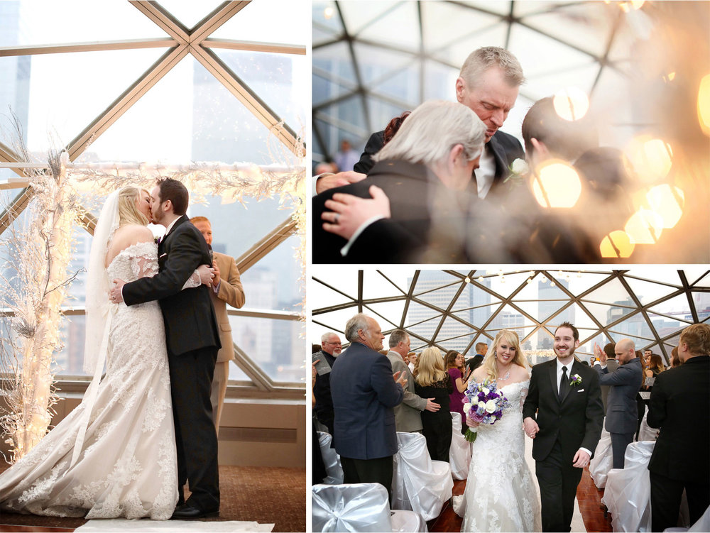 17-Minneapolis-Minnesota-Wedding-Photographer-by-Andrew-Vick-Photography-Winter-Millennium-Hotel-Ceremony-Bride-Groom-Family-Prayer-Kiss-Recessional-Jennifer-and-Phillip.jpg