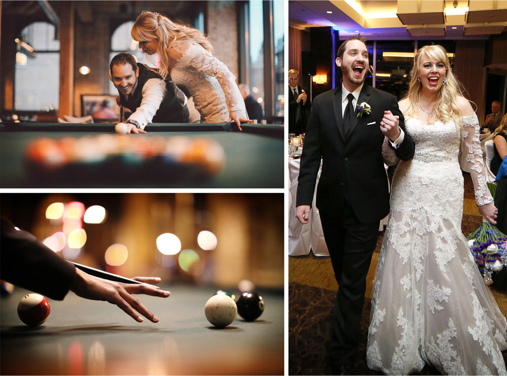 19-Minneapolis-Minnesota-Wedding-Photographer-by-Andrew-Vick-Photography-Winter-Hewing-Hotel-Millennium-Bride-Groom-Pool-Billards-Reception-Grand-March-Jennifer-and-Phillip.jpg
